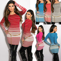 New Clubbing Sweater Pullover Sexy Top Ladies Jumper Dress Size 6 8 10 12 S M L