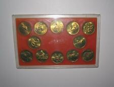 1981-1992 CHINA(PRC) 12 Brass LUNAR animals medal Shanghai mint with box