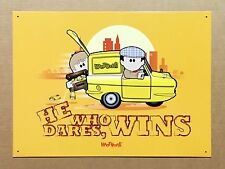 Weenicons Only Fools & Horses He Who Dares - Tin Metal Wall Sign