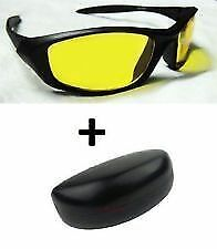Night Vision Safety Sunglasses Dust Proof Goggles SunGlass in hard box