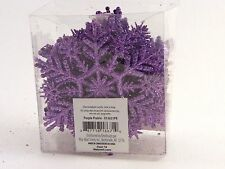 20 Purple Lilac Glitter Snowflake Ornaments Christmas Tree Holiday Decoration