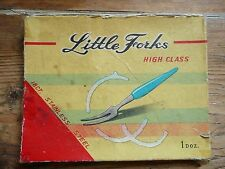 Vintage 60s Retro Kitsch 12 Little Forks Pickle / Cocktail  hors d'oeuvre canape
