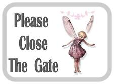 Si prega di chiudere il cancello Fata Design in Metallo Porta Firmare