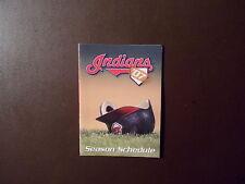 Cleveland Indians 2007 MLB pocket schedule -Various Sponsors