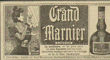 GRAND MARNIER LIQUEUR LIQUOR PUBLICITE ADVERTISING 1897