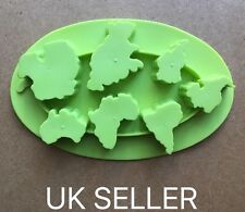Silicone Mold Continents Shape Ice Cube Tray/cake Mold