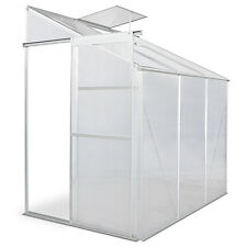 3.63 m³ Polycarbonate Greenhouse Aluminium Frame Garden Grow House Plants Silver