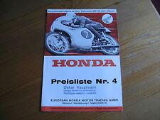 HONDA Motorrad Preisliste Nr.4  60er Jahre 50ccm- CB72 250