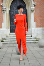 H&M BLOGGERS!! ORANGE MAXI LONG DRESS SIZE UK6/EU32/US2