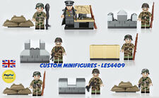 8pc Army | Military | SWAT | WWII Soldier Custom Minifigure + FREE LEGO BRICK UK