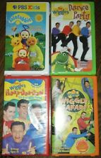 3 Wiggles & 1 Teletubbies ~ VHS Movies - Wiggles: Dance Party, Hoop-Dee-Doo, +2
