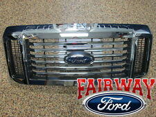 08 09 10 Super Duty F250 F350 F450 F550 OEM Genuine Ford Chrome w/ Black Grille