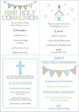 Personalised Boys First 1st Holy Communion Invitations / Thank You Cards