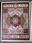 Holiday Peace and Love ornament print by Shepard Fairey signed and numbered