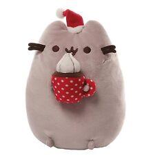Gund PUSHEEN Cat Stuffed Plush Mug of Hot Chocolate with Whipped Cream Christmas