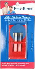 Fons & Porter Utility Quilting Needles #7743 - 12 cnt Size 5