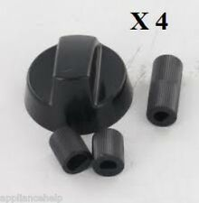 Universal CANDY Cooker Oven Hob BLACK CONTROL KNOB & ADAPTOR x 4