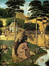 HIERONYMUS BOSCH TEMPTATION OF ST ANTHONY OLD PAINTING PRINT 1365OMLV