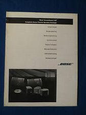 BOSE ACOUSTIMASS HT HOME THEATER OWNER MANUAL ORIGINAL GOOD CONDITION 8 LANGUAGE