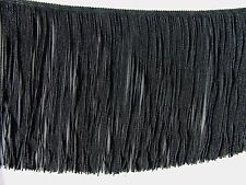 """SPECIAL PRICE ~ 3 YARDS of 7"""" Black Chainette Fringe Trim ~ Lampshades Costumes"""