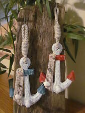 2pc Rustic Anchor Wall Hooks Nautical Decor
