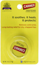 CARMEX Moisturizing Lip Balm Original Soothes Heals Cold Sores Protects 0.25 oz
