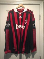 Authentic Adidas LS AC Milan Jersey CL Starball, Champions Patch Beckham
