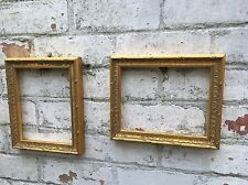 Pair Of Vintage Ornate Wooden Gold Frame elaborate, Rococo Picture Display