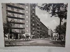 Vecchia cartolina foto d epoca di Milano Via Francesco Ferruccio strada palazzi