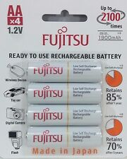 Fujitsu - HR-3UTCEX(4B) - 4-Pack AA 2100 Cycle Ni-MH Rechargeable Batterys