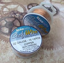 Craft Wire 22gauge (0.64mm) Copper Natural Beadsmith Pro Quality Non Tarnish