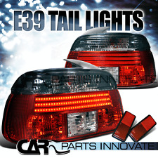 BMW 97-00 E39 528i 540i M5 5-Series LED Tail Lights Rear Brake Lamp Red Smoke