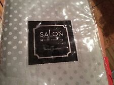 Hotel Collection SALON Dot Shower Curtain 4 Sided Border Pattern New Gray Green