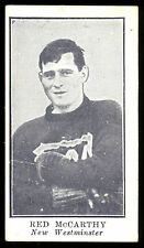 1912 C61 IMPERIAL TOBACCO LACROSSE #27 RED McCARTHY VG-EX NEW WESTMINSTER B C