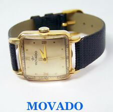 Vintage Mens 18k MOVADO Winding Watch 1940s Cal 260 * EXLNT* SERVICED