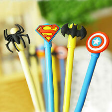 1set Marvel Superman Spiderman Batman Captain America Ball Point Ballpoint Pen U