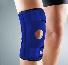 XXL Blue Neoprene Adjustable Open Patella Knee Support Brace Sleeve Bandage Gym