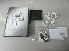 Monster Inspiration Noise Isolating White In-Ear Headphones