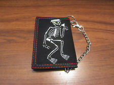 MEN'S  CHAIN TRIFOLD  WALLET SKELETON SOCIAL DISTORTION CHAIN WALLET PUNK GOTHIC
