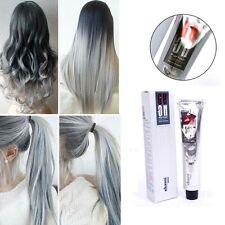 Unisex Fashion Punk Grannyhair Permanent Light Gray Color Hair Dye Cream 100ml