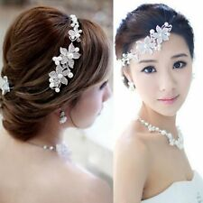 Flower Party Fashion Accessories Hair Headband Clip Wedding Women New Rhinestone