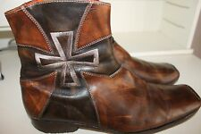 MARK NASON BROWN CROSS ANKLE BOOTS MENS SIZE 13