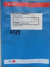 Werkstattbuch Reparaturleitfaden VW Polo Diesel- Einspritz- Vorglühanlage #6739