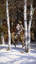 Howard Terpning BLACKFEET AMONG THE ASPEN, Native American, art print #430