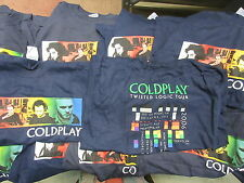 NEW - 10x WHOLESALE LOT COLDPLAY BAND / CONCERT / MUSIC T-SHIRT YOUTH LARGE