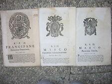 Q679-STATO PONTIFICIO-FAENZA 3 SENTENZE 1761/1824