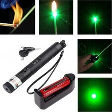 Laser Pointer Pen G301 532nm Burning Lazer Visible Beam +18650 +Charger Green AD