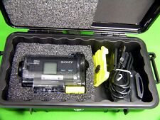New Pelican 1060 Black Case fits Sony POV Action Cam HDR-AS15 +Nameplate