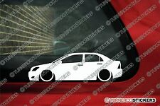 2x LOW Toyota Corolla e120 saloon (2000-2007) lowered jdm car outline stickers
