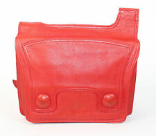 Vintage 1980's Red REAL LEATHER SHOULDER STRAP Bag